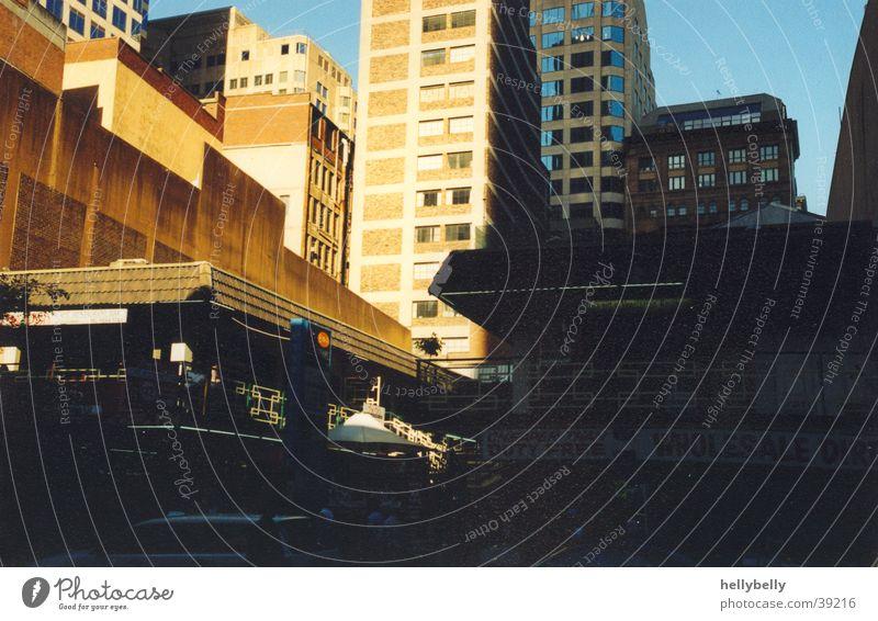 gebäude in sydney Sydney Hochhaus Gebäude Architektur Schatten Straße Stadt