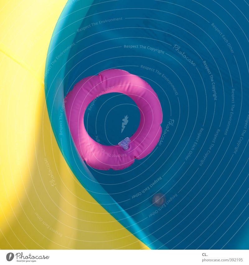quietschbunt Freude Schwimmen & Baden Freizeit & Hobby Ferien & Urlaub & Reisen Tourismus Sommer Sommerurlaub Schwimmbad Fitness Fröhlichkeit nass blau gelb