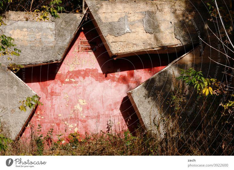 Zeitgeschichte I Sowjetische Besatzungszone Stern Russland Sowjetunion Zone Zonengrenze DDR DDR-Zeit Ostalgie Natur Ruine alt Geschichte zeitgeschichte