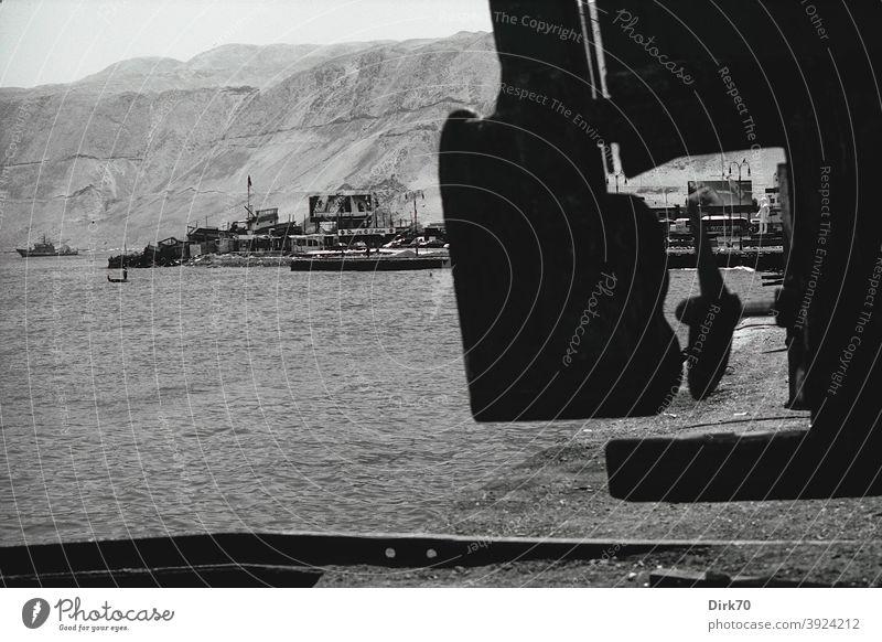 Hafen von Iquique, Chile iquique chilenisch Südamerika Ferien & Urlaub & Reisen Landschaft Berge u. Gebirge Natur Außenaufnahme Anden Menschenleer Hafenstadt