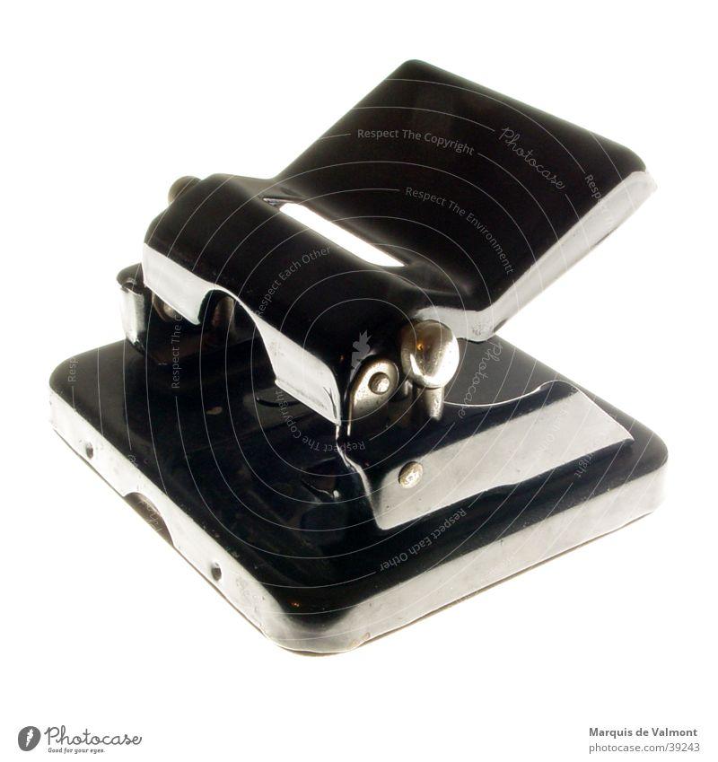 No44 weiß schwarz Innenarchitektur Schreibtisch Dreißiger Jahre Locher