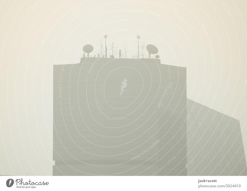 Smog Alarm Hochhaus dreckig Endzeitstimmung unklar Strukturen & Formen Peking Himmel Silhouette Umweltverschmutzung schemenhaft Unschärfe Hintergrund neutral