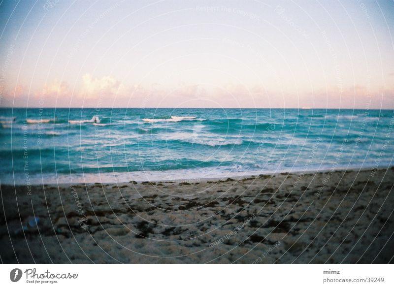 Traum Strand Wasser Strand Ferien & Urlaub & Reisen Ferne Sand Horizont Vignettierung Vancouver Wellengang Sandstrand Urlaubsfoto