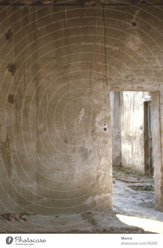 Die Ruine Haus Raum Architektur kaputt Ruine Schönes Wetter