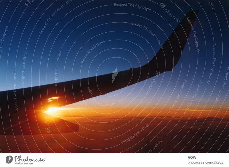 Düsseldorf-Granada Flugzeug Spanien Süden Sehnsucht Luftverkehr Sonne Ferien & Urlaub & Reisen