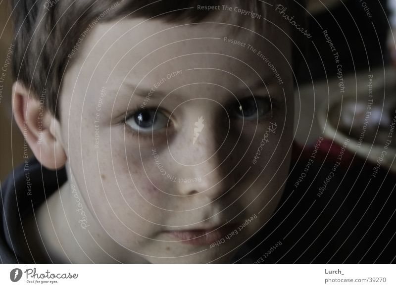 Joseph S. Kind Gesicht Kopf Porträt Kinderaugen
