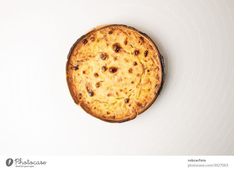 leckere runde Quiche mit Schinken und hausgemachtem Speck Gesundheit Mahlzeit Kruste Lebensmittel Abendessen Küche selbstgemacht Torte rustikal Snack gebacken