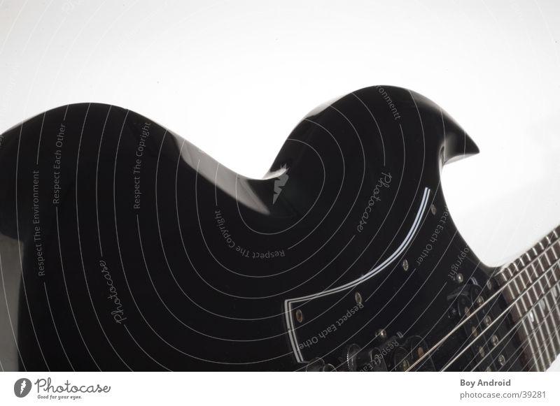 Schwung schwarz weiß Saite Elektrisches Gerät Technik & Technologie Gitarre Bogen
