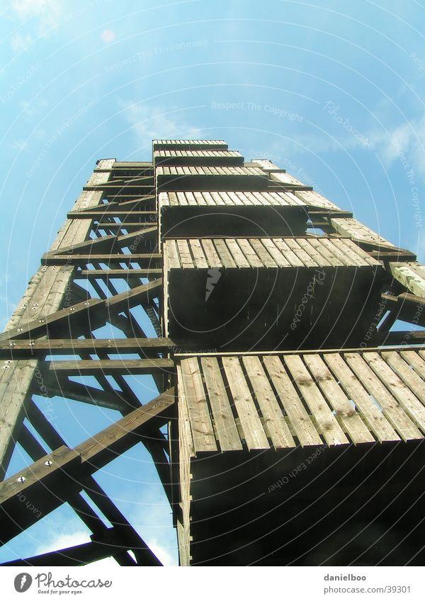 aussichtsturm Holz Ferien & Urlaub & Reisen Architektur Turm Aussicht Himmel