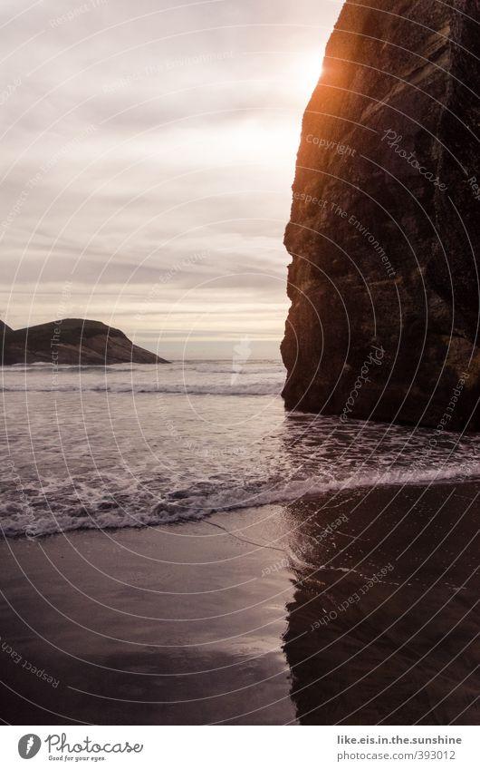 muy buenos dias Natur Ferien & Urlaub & Reisen Sommer Sonne Meer Erholung Einsamkeit Landschaft ruhig Wolken Strand Umwelt Küste Glück Felsen Wellen