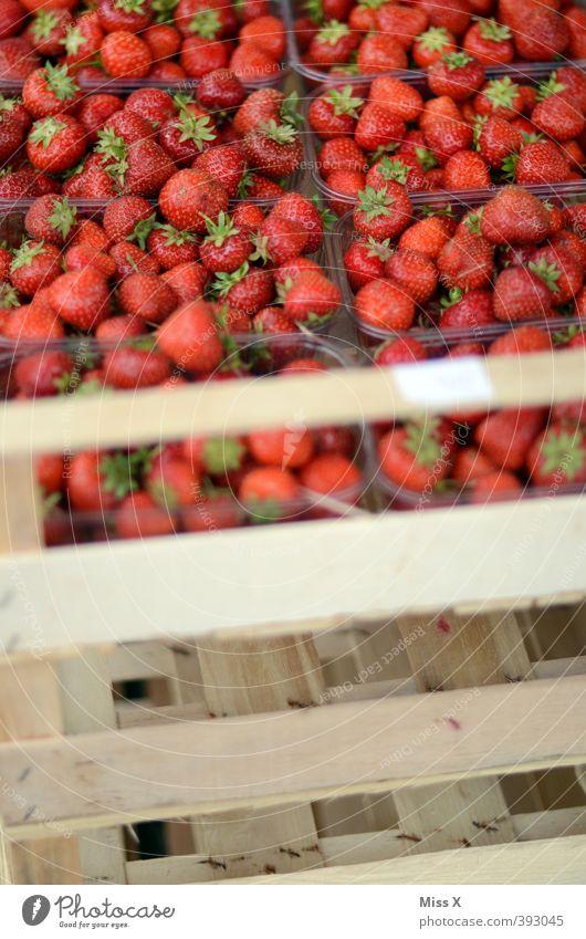 Kisten* rot Gesundheit Lebensmittel Frucht frisch Ernährung süß Ernte lecker Bioprodukte Schalen & Schüsseln Diät verkaufen Erdbeeren Vegetarische Ernährung