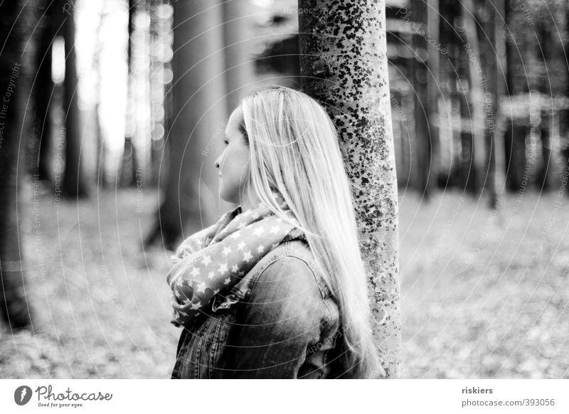 waldflüstern ii Mensch Frau Natur Jugendliche Sommer Pflanze Erholung Einsamkeit Landschaft ruhig Junge Frau Wald Erwachsene Umwelt 18-30 Jahre feminin