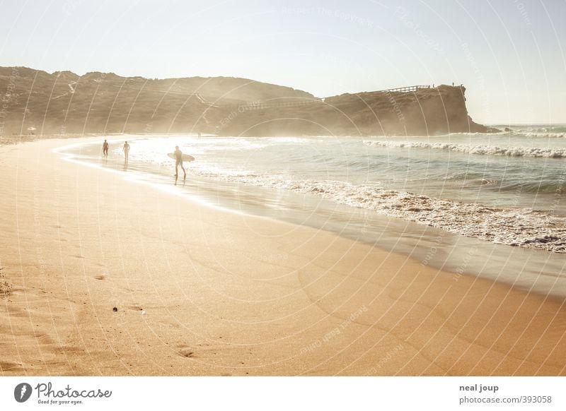 Endless summer -II- Surfen Ferien & Urlaub & Reisen Freiheit Sommer Strand Meer Wassersport Surfbrett Feierabend Sonnenlicht Küste Atlantik Schwimmen & Baden