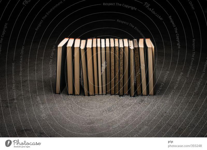 buchreihe alt dunkel braun Buch Beton Papier lesen Bildung Mitte Reihe Wissen Bibliothek Literatur Bucheinband Roman Lesestoff