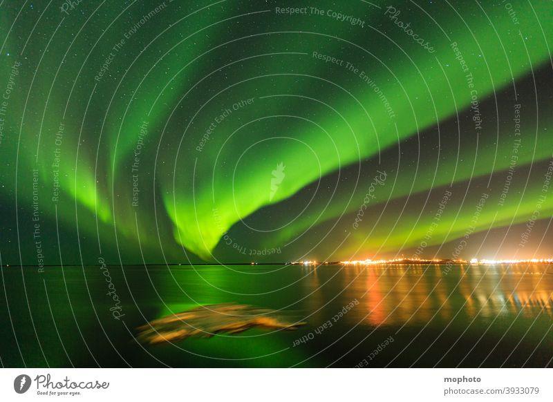 Polarlichter, Island langzeitbelichtung nachthimmel bewegung borganes eis island meer nordlicht ozean polarlicht reise reiseziel schnee sehenswürdigkeit