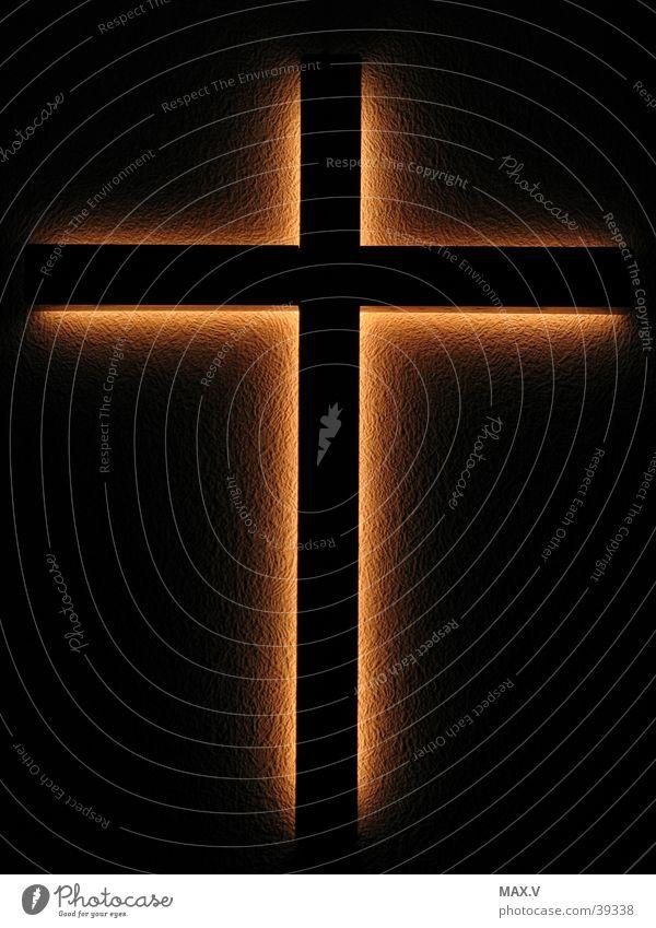 Jesus ist auferstanden Mensch dunkel Holz Religion & Glaube Rücken