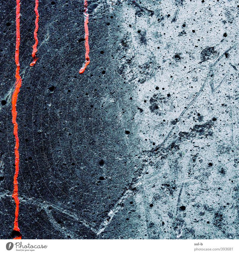 dport | Detail 2 Mauer Wand alt bedrohlich dunkel gruselig Stadt grau rot Tod Schmerz Angst gefährlich Schüchternheit Wut Ärger Gewalt Hass Entsetzen Blut