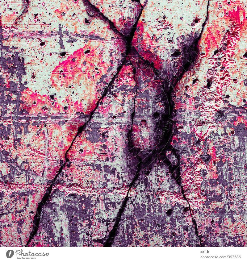 dport | Detail 3 Mauer Wand Aggression alt bedrohlich dunkel Wut violett rot Tod Schmerz Angst gefährlich Stress Ärger Gewalt Hass Graffiti Riss Beton