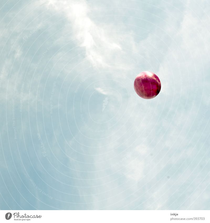 der rote Planet Himmel Ferien & Urlaub & Reisen blau Sommer Sonne Freude Wolken Leben Gefühle Spielen Stimmung fliegen Freizeit & Hobby Schönes Wetter