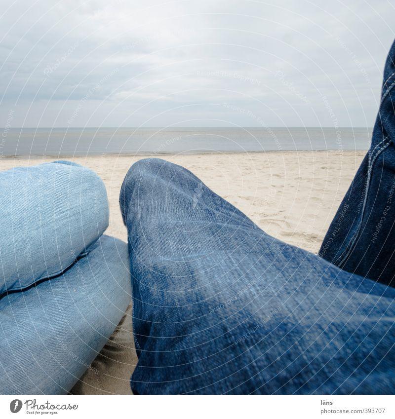Strandtag Himmel Ferien & Urlaub & Reisen Meer Wolken Strand Sand Ostsee