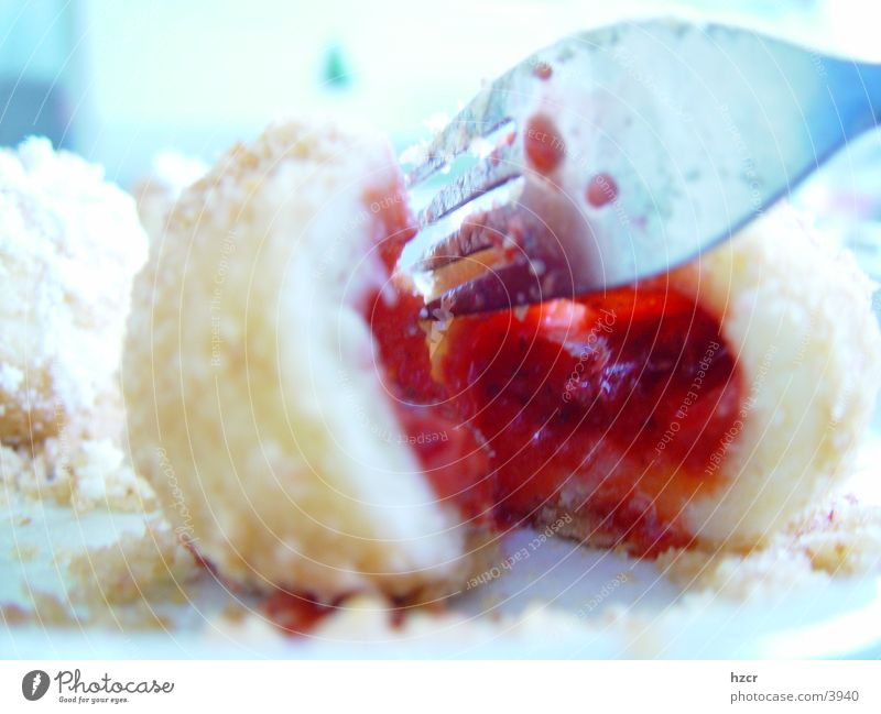 erdbeerknödel Ernährung Erdbeeren Dessert Gabel Frucht Knödel