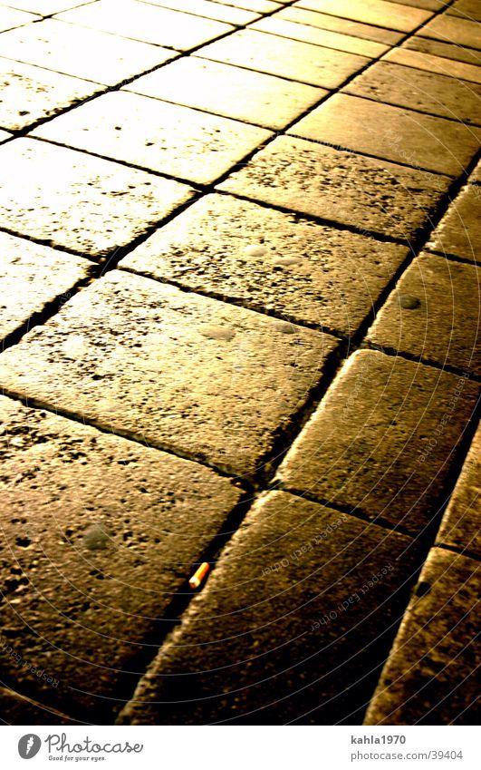 Pflasterstrand gelb Straße gold Verkehr Kopfsteinpflaster Raster