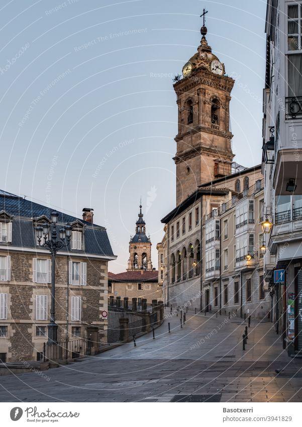 Altstadt von Vitoria-Gasteiz, Baskenland, Spanien Stadt urban Kirche Gebäude Haus Straße Reise reisen Reisefotografie Architektur Ferien & Urlaub & Reisen