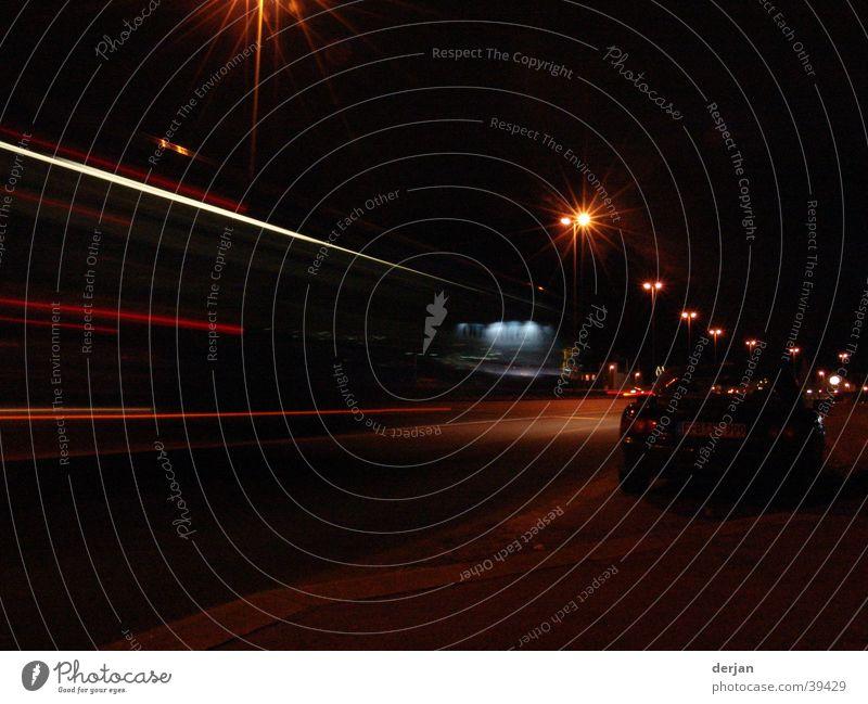 langzeitbelichtung münchen Straße Beleuchtung Verkehr München Laterne