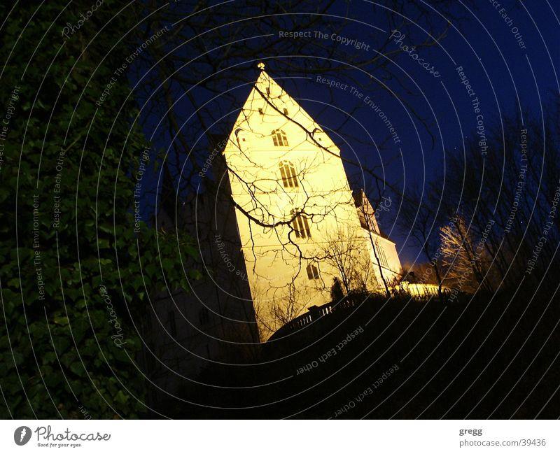 night @ castle meissen Architektur Burg oder Schloss Sachsen Meissen
