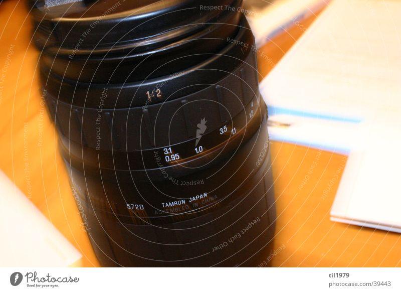 Objektiv Bewegung Tisch Papier Dinge Objektiv Zoomeffekt