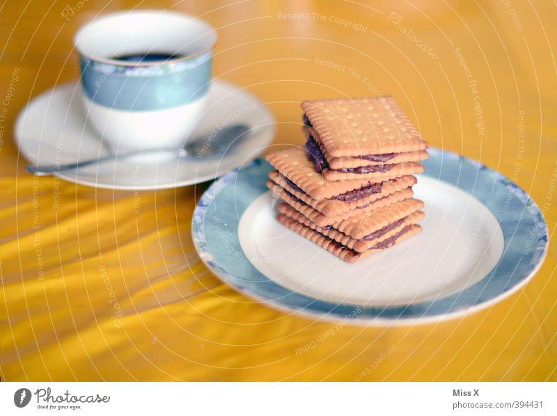 Retro Kalter Hund* Lebensmittel Speise Ernährung Getränk süß retro Kochen & Garen & Backen Kaffee lecker Frühstück Kuchen Teller Schokolade Backwaren Keks