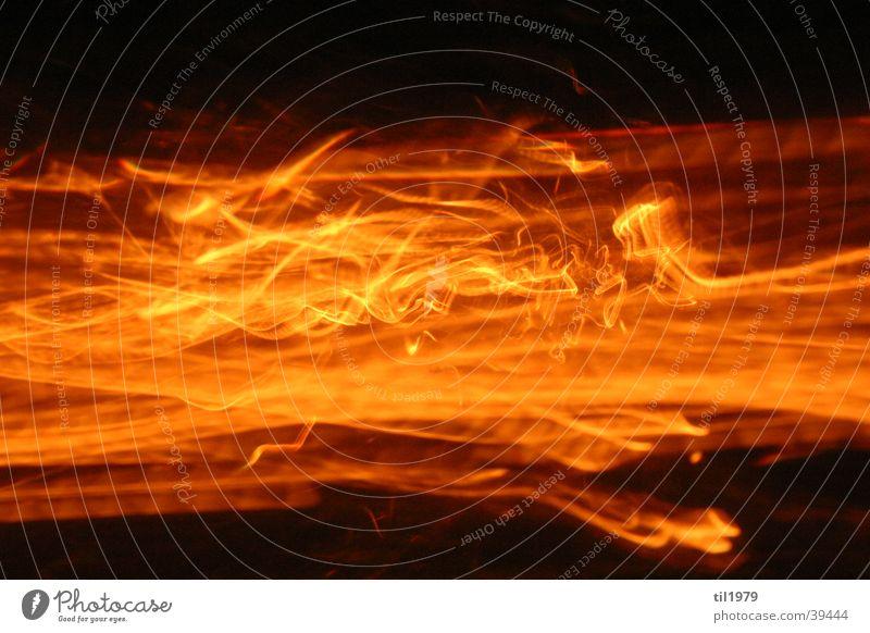 Feuer2 schwarz Lampe Bewegung orange Brand Häusliches Leben