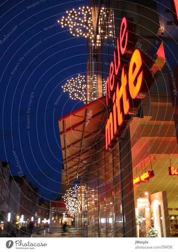 Neue Mitte Jena Nacht Stadt Gebäude Architektur Weihnachten & Advent Beleuchtung