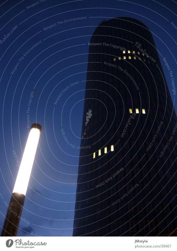 two-tower Lampe Hochhaus Nacht Intershop Straßenbeleuchtung Architektur Turm Intershoptower Beleuchtung modern