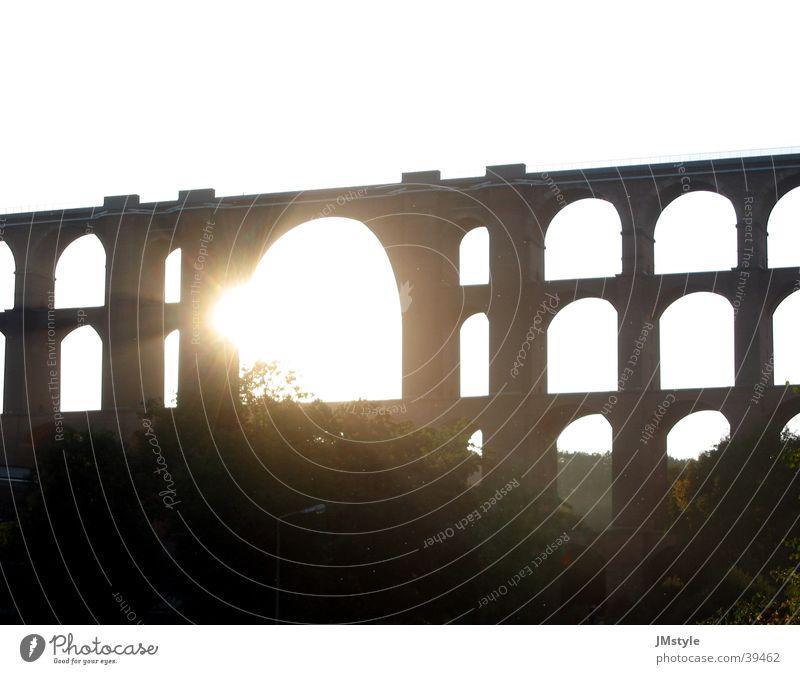 Göltzschtalbrücke Sonne Europa Brücke Eisenbahnbrücke
