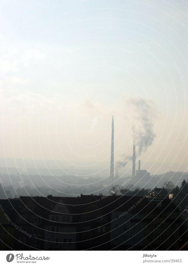 Jena@Morning Morgen Nebel Rauch Industrie Stromkraftwerke