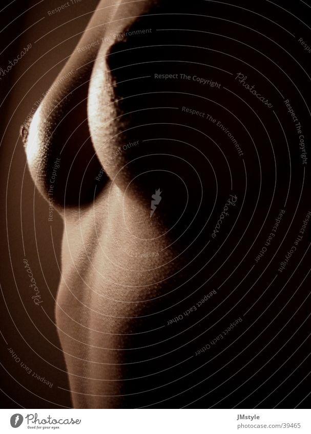 Cora 3 Frau Akt schön schwarz nackt feminin Körper Frauenbrust Brust Silhouette Frauenkörper Schatten