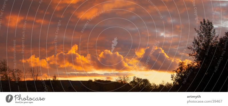 rmanFire Sky Himmel Wolken Berge u. Gebirge Landschaft Horizont