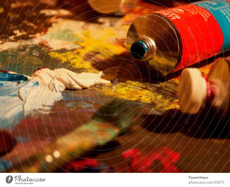 Palette Farbe Arbeit & Erwerbstätigkeit Kunst planen streichen Gemälde Erdöl Kreativität Mischung Artist Künstler Pinsel London Underground Ausstellung mischen
