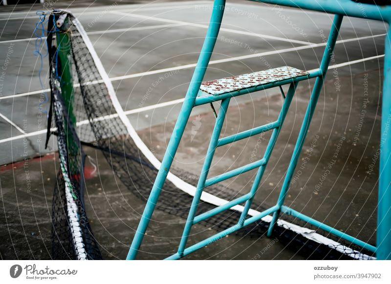 Tennis-Schiedsrichterstuhl Sport Stuhl Gericht Spiel spielen Sitz schiedsrichter Konkurrenz Netz Spielen Übung Fitness Stock weiß Bank bügeln Freizeit Linie