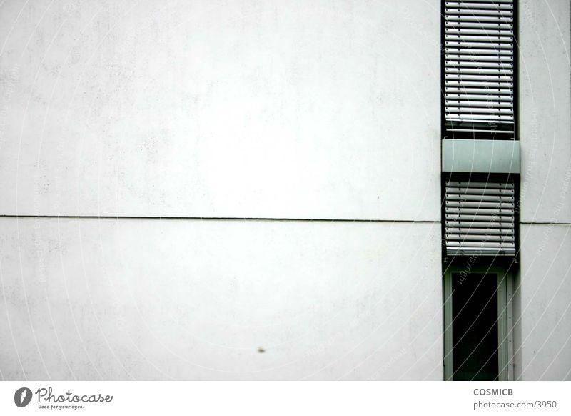 Beton Haus kalt Wand grau Linie Architektur modern Klarheit Seite Haarschnitt Bürogebäude