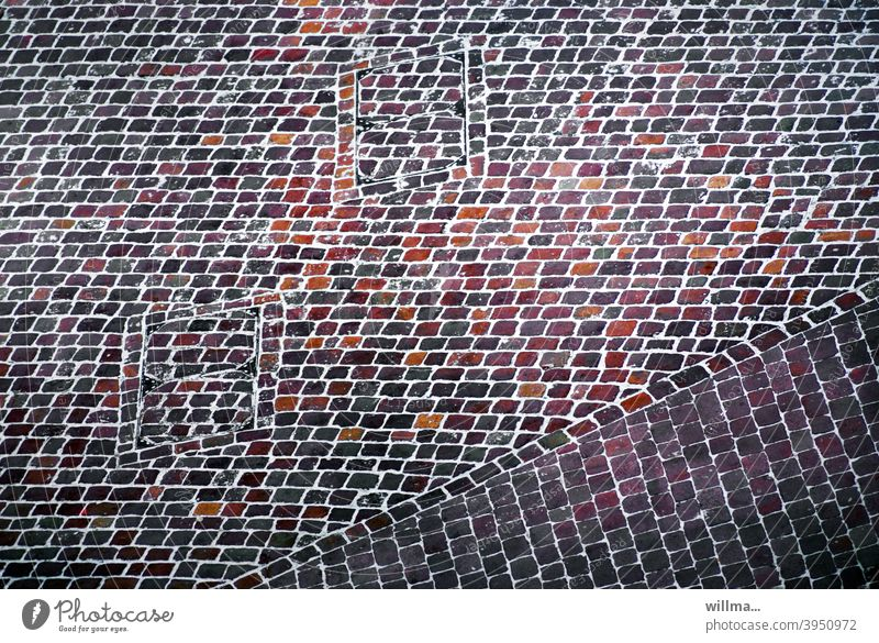 Sinfonie der Pflastersteine, in Farbe, für Einsteiger Pflasterseine farbig bunt Strukturen Muster abstrakt Platz Marktplatz gepflastert Strukturen & Formen