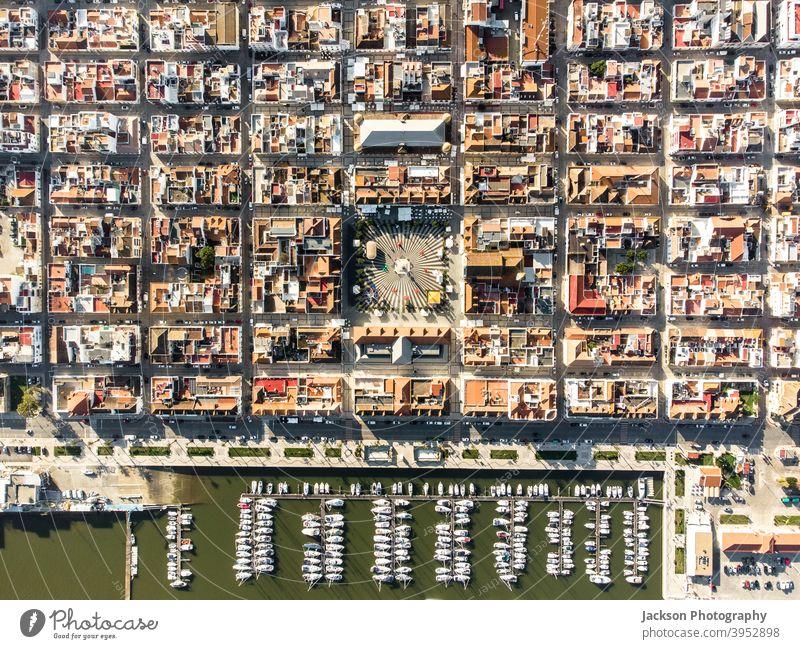 Luftaufnahme von Vila Real de Santo Antonio, Süden von Portugal Stadt Stadt urban Antenne vila real de santo antonio oben Algarve Architektur Borte Gebäude