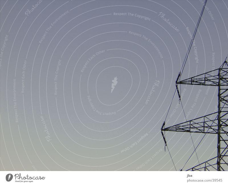 Hochspannungsleitungsarme Himmel blau Elektrizität Technik & Technologie Draht Verlauf Elektrisches Gerät