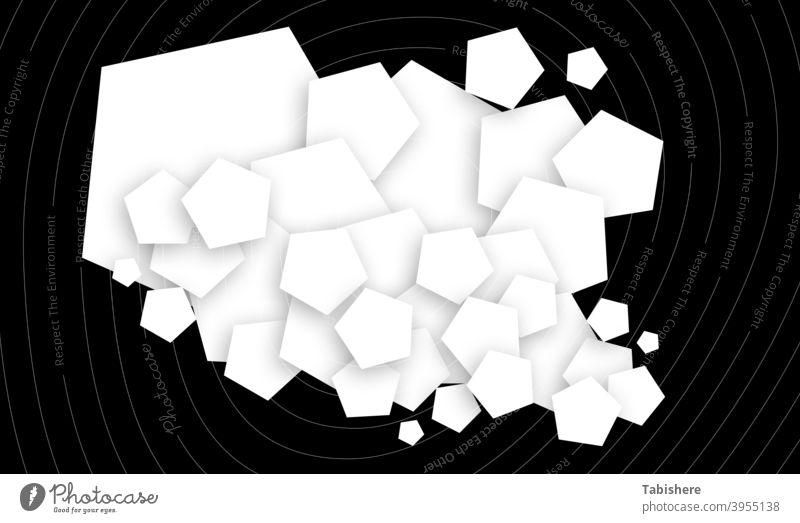 Pentagon Form Design weichen Schatten auf schwarzem Hintergrund stock photoAbstract, Am Rande der, Hintergründe, schwarz und weiß, schwarzer Hintergrund