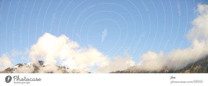 Wolkenhimmel schön Saanenland Gstaad Berge u. Gebirge Himmel blau Sonne