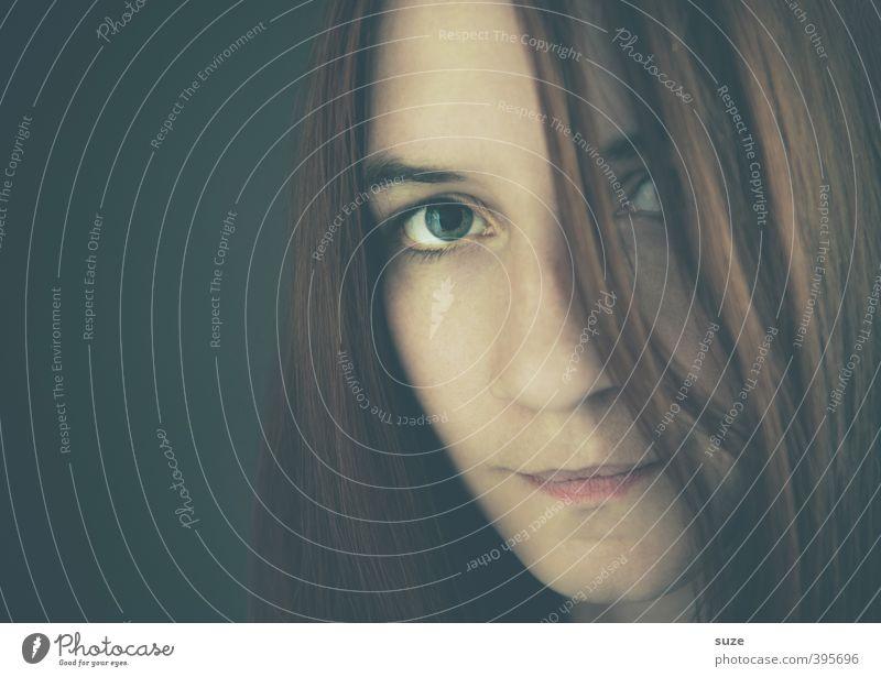 Dunkelmüde-Hellwach Mensch Frau schön Gesicht Erwachsene dunkel Auge feminin Haare & Frisuren Kopf natürlich authentisch einzigartig Neugier Vertrauen brünett