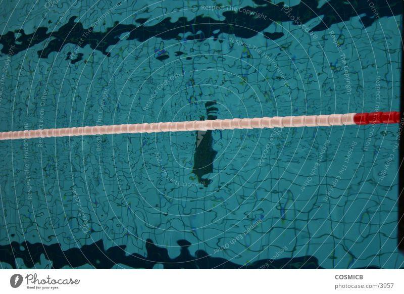 Die Bahn Wasser Sport Linie Eisenbahn Schwimmbad Trennung Becken