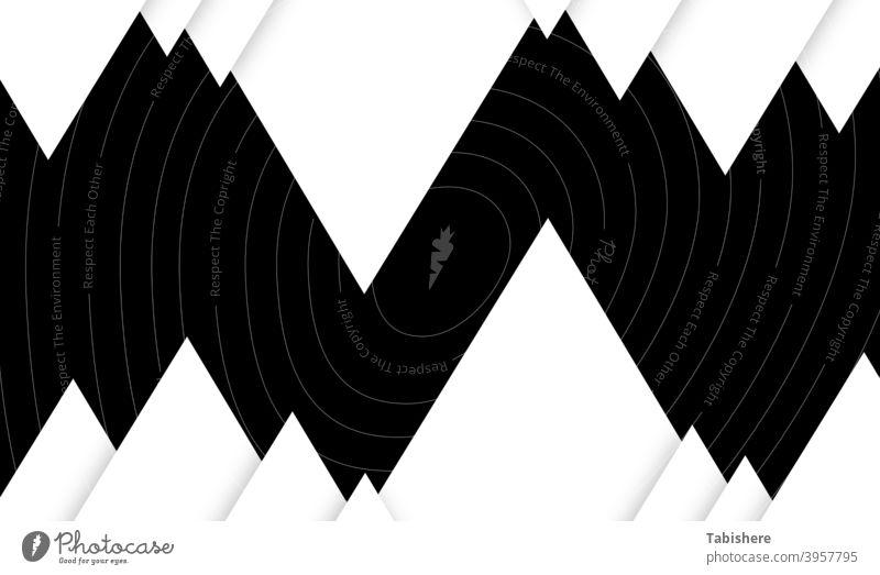 Grundlegende Zick-Zack aus Dreiecksformen stock photoAt The Edge Of, Schwarz und Weiß, Schwarzer Hintergrund, Sammlung, Konzepte Am Rande der schwarz auf weiß
