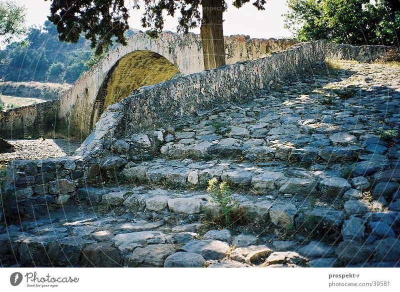 TreppenBlume Baum Sonne Ferien & Urlaub & Reisen Europa Brücke Griechenland Kreta